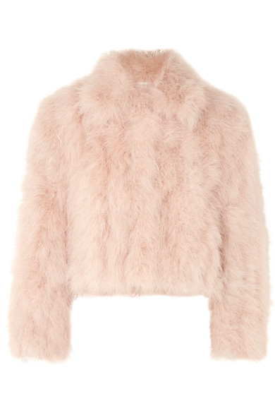 Adeam Cropped feather jacket