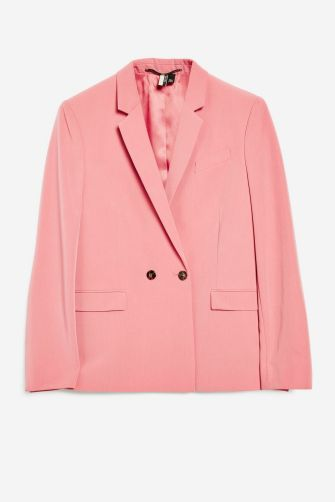 Topshop Pink Double Breasted Suit